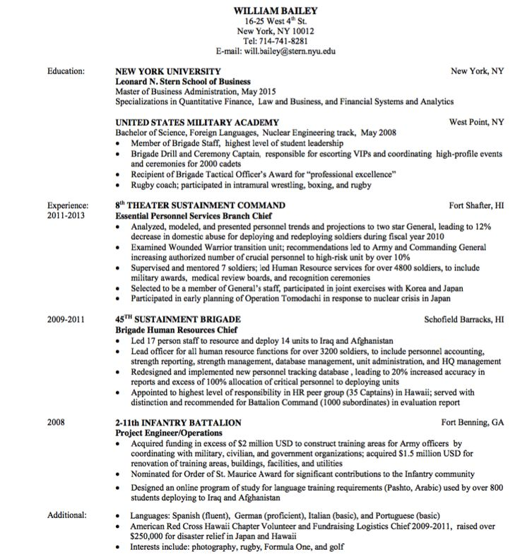 military resume sample    exampleresumecv org