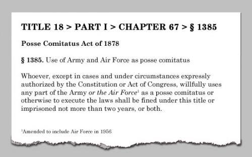 What Is Posse Comitatus? ...