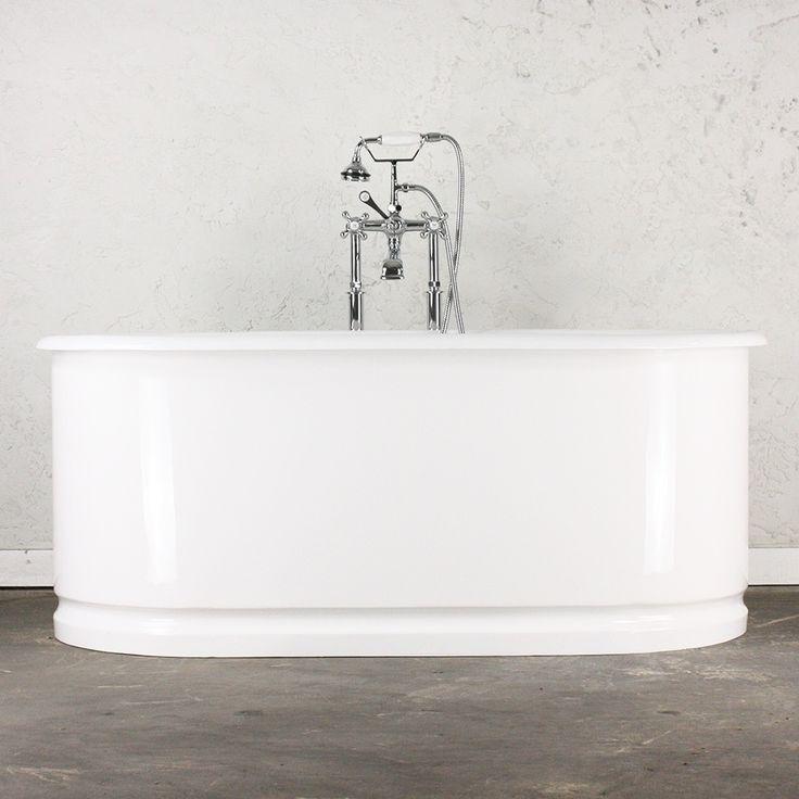 u0027the 61u0027 cast iron double ended bath tub with gloss white steel
