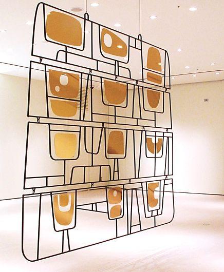 John-Paul Philippe; Steel and Brass Hanging Screen, 2011.