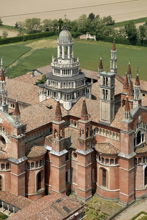 Certosa di Pavia: a Catholic monastery in Lombardy, built in 1395.