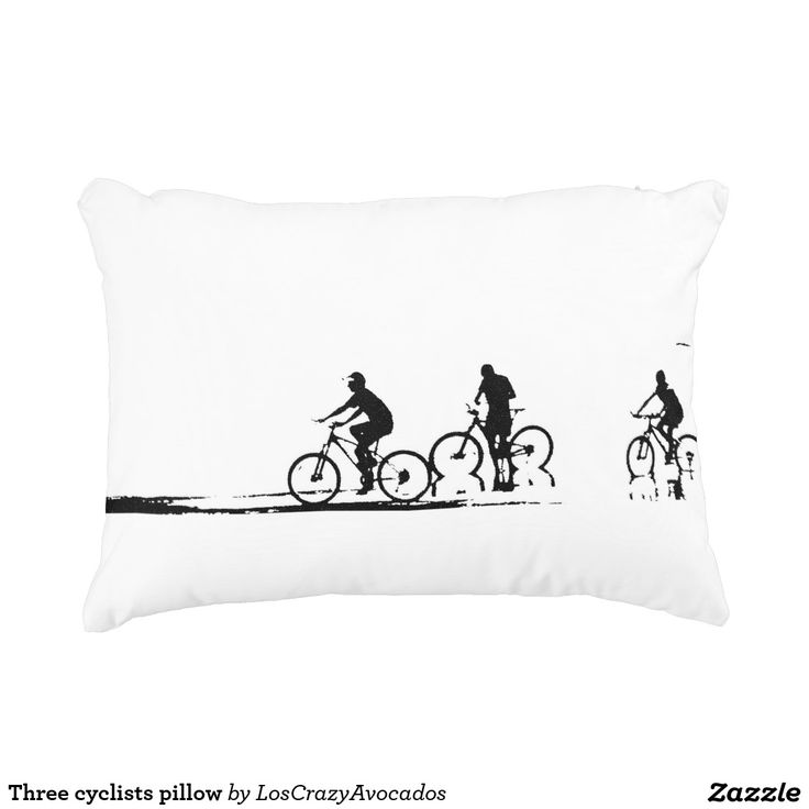 Three cyclists pillow