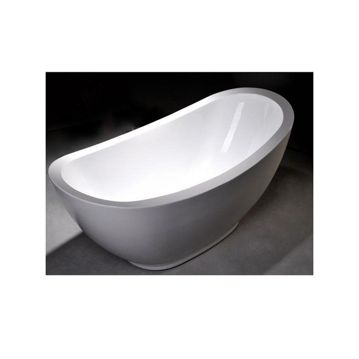Delightful Enhance Your Bathroom With This Stylish White Acrylic Soaking Bathtub. This  Attractive Bathtub Boasts Clean Great Pictures