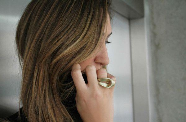 Golden Drop ring (24 karat gold plating)