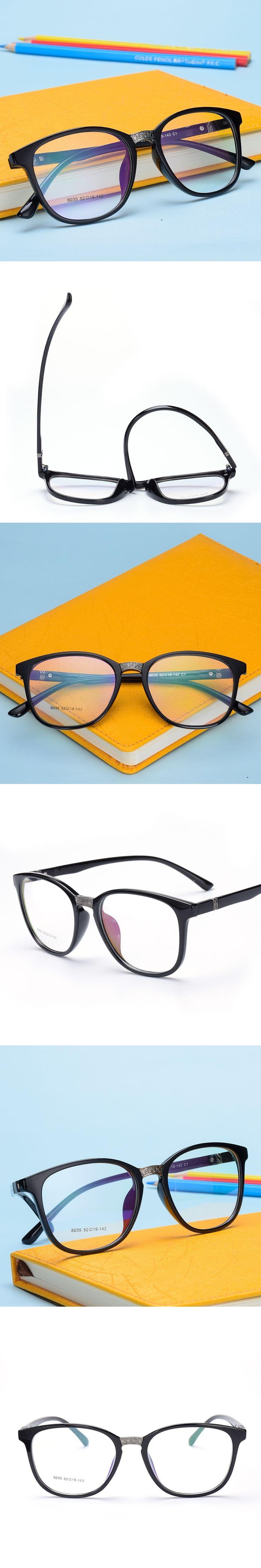 The New TR90 women Glasses frame retro optical clear Full box Eyeglasses frame Men prescription glasses frames 8035