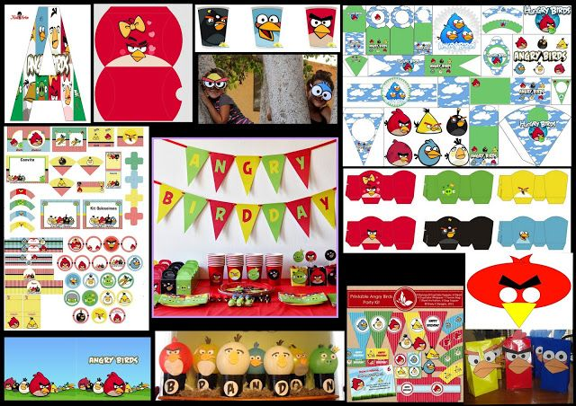 Angry birds diys free printables party decoration ideas for Angry birds decoration ideas