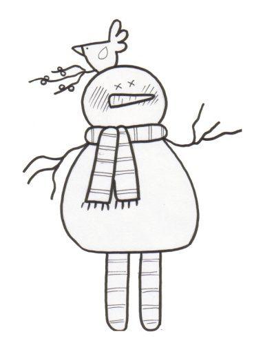 Snowman Coloring Page - Snowfella Snowman