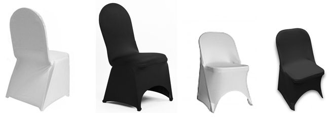 SPANDEX CHAIR COVERS || Rent online at rentmywedding.com. FREE shipping nationwide! Easy DIY setup.
