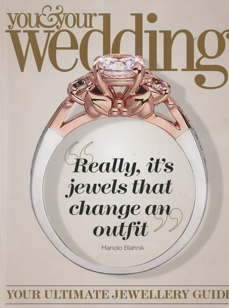 The beautiful Tree of Life Engagement ring sitting proudly on the cover of You and Your Wedding jewellery special