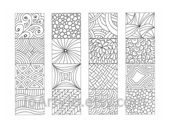 Color Your Own Bookmarks Zentangle