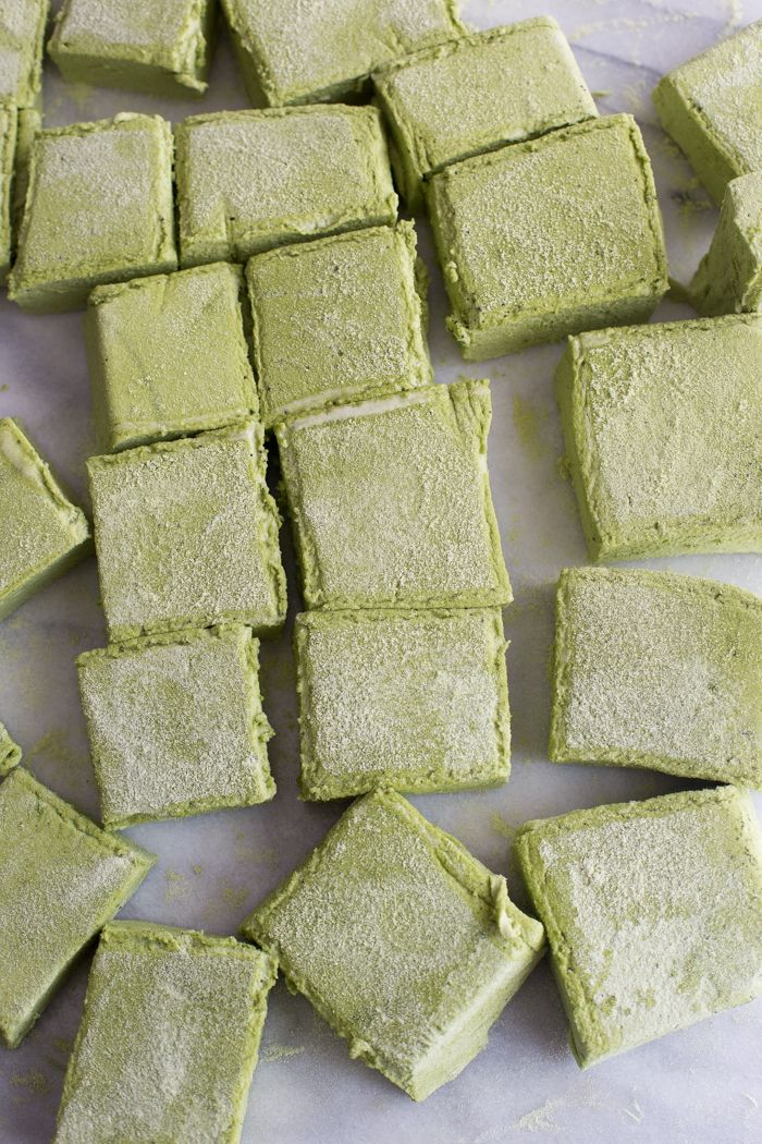 Matcha Marshmallows: soft and pillowy, sweet and earthy | 40 Aprons