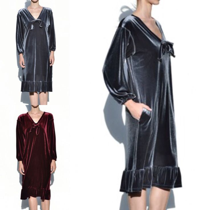 Velvet dress available now in two colors by Cristina Karekla Collection fall winter 2016/17 www.cristinakarekla.com