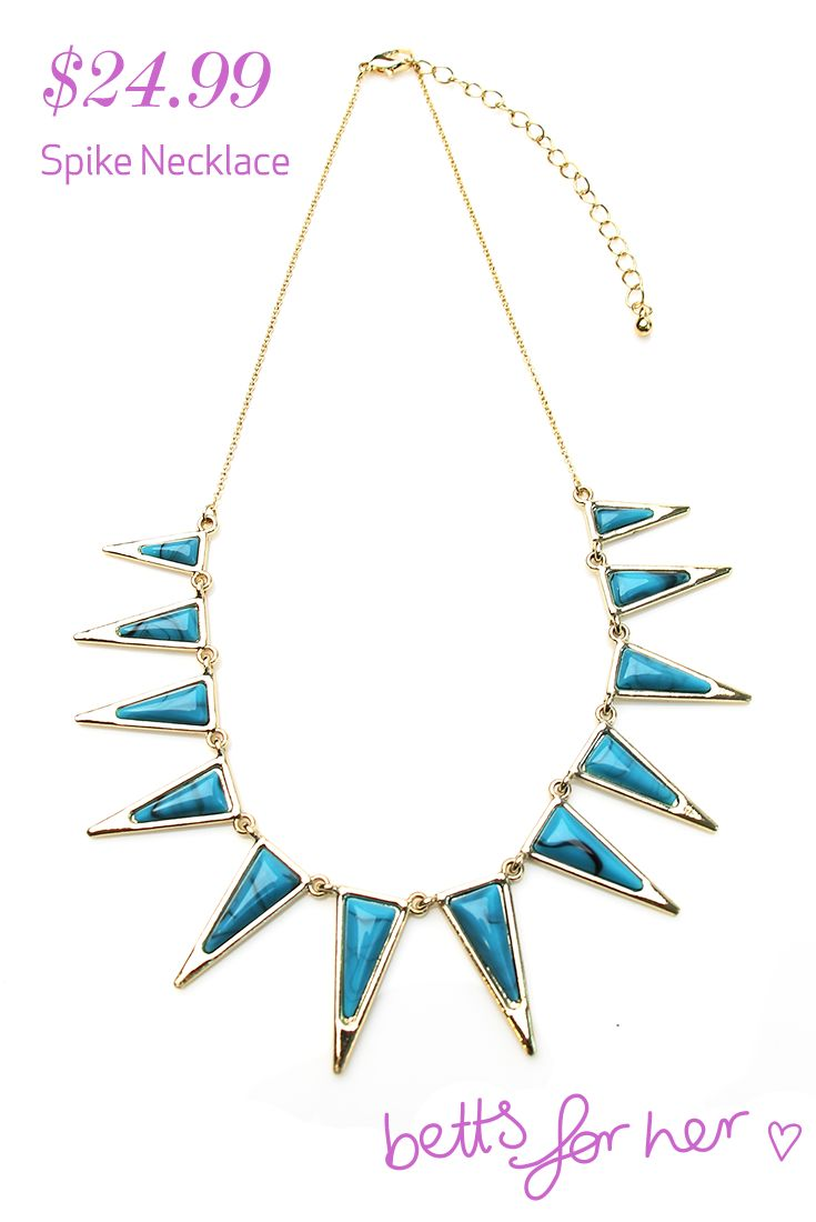Spike Necklace $24.99 from the Wild & Free collection - Betts for Her