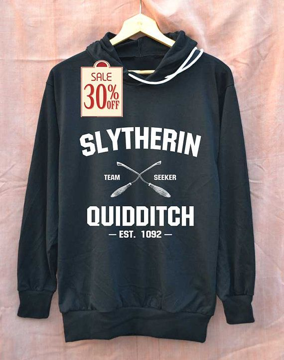 Quidditch Serpentard chemise Quidditch Harry Potter chemises Tshirt Sweat à capuche unisexe taille M L
