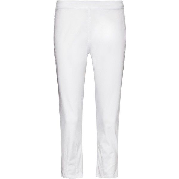Sandwich Cropped jeggings ($115) ❤ liked on Polyvore featuring pants, white, women, jeggings pants, white pants, cropped pants, white trousers and cropped jeggings