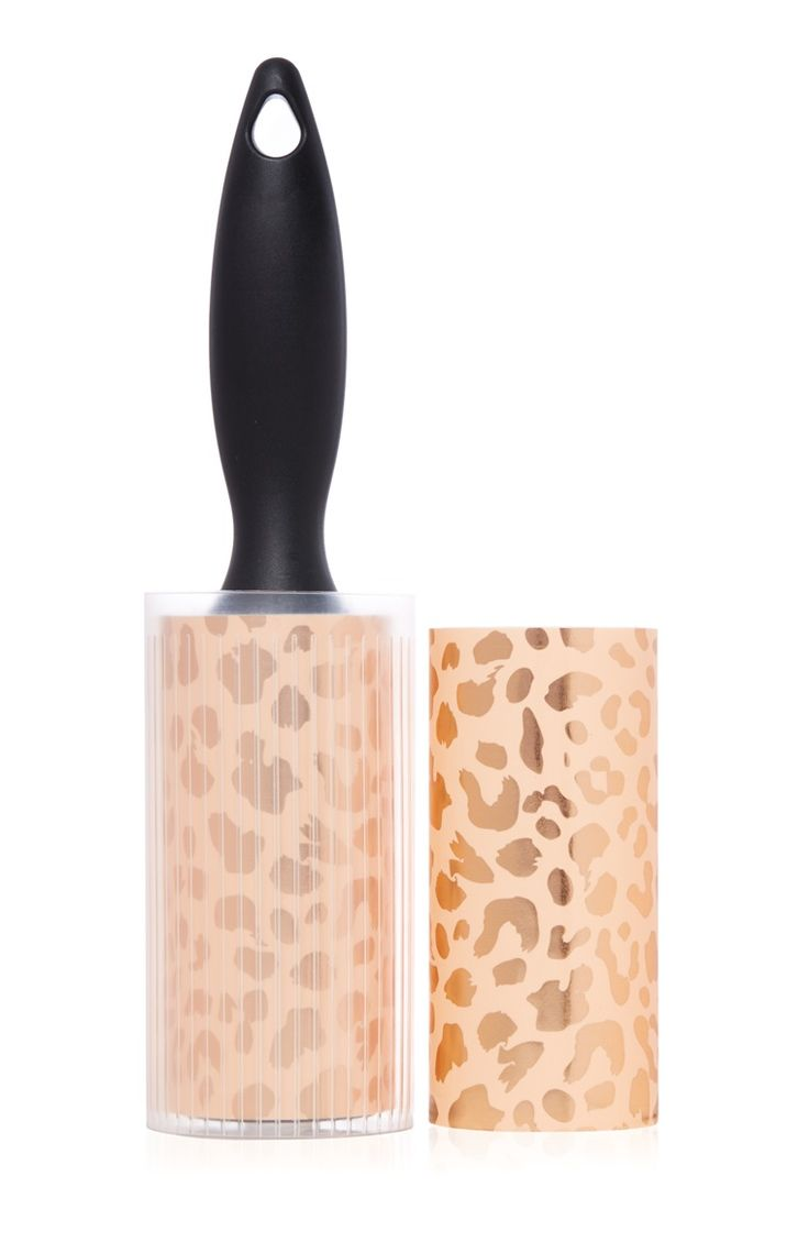 Primark - Brosse anti-peluches à imprimé léopard