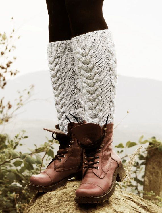 Vanilla Boot Cuffs  Knitted Boot Cuffs  Legwarmers by EmofoFashion