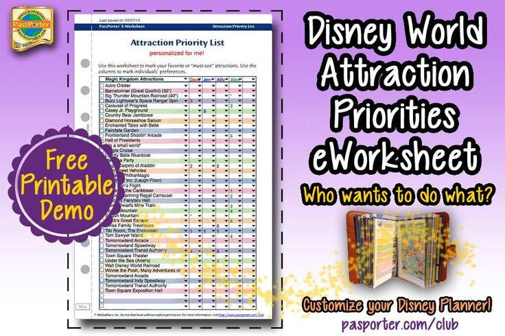 World PassPorter     s   Priorities wholesale Disney eWorksheet cheap Club Attraction handbags