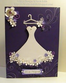 Wedding dress card video: Wedding Cards, Wedding Dressses, Cards Ideas, Bridal Dresses, Paper Dresses, Wedding Dresses, Bridal Shower Cards, Dresses Cards, Fresh Folding