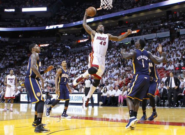 Miami Heat's LeBron James  http://www.sportsworldreport.com/articles/16063/20130601/nba-playoffs-schedule-miami-heat-vs-indiana-pacers-game-6.htm