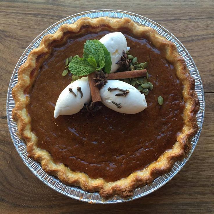 Pumpkin Pie. The best time of year.