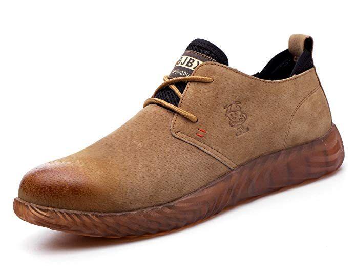 VOLKLAND Men Casual Leather Steel Toe