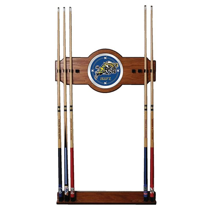 Trademark Global, Inc. United States Naval Academy Wood and Mirror Wall Cue Rack