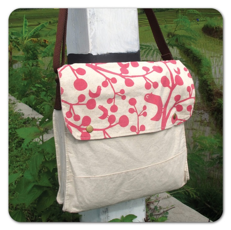 Simple Sling Bag : pink