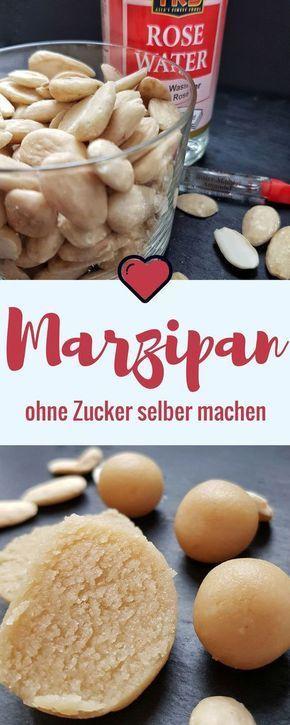 Marzipan ohne Zucker selber machen ist ganz einfach mit nur 3 Zutaten #zuckerfre