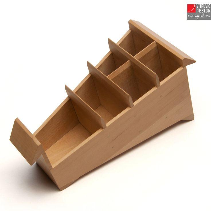 Portapenne di design in legno | Made in Italy | Vitruvio Design