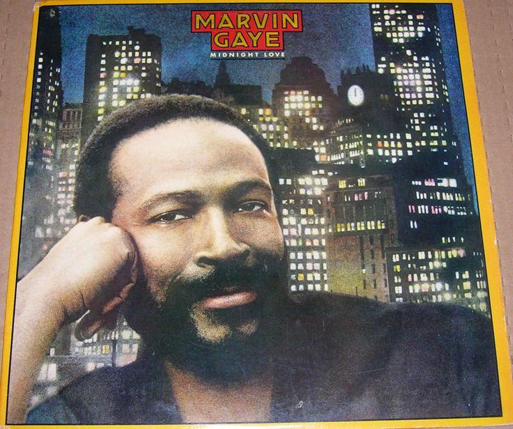 """Marvin Gaye """"Midnight Love"""" 1982 Vinyl Record"""