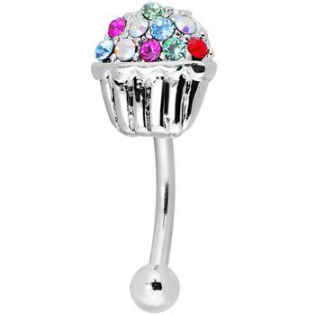 Multi Gem Sprinkles Cupcake Eyebrow Ring #11.99 #piercing