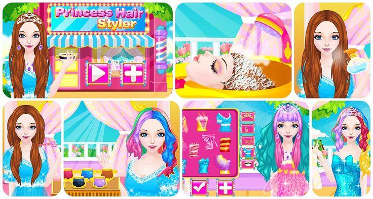 #Gameoftheday: http://www.girlgames4u.com/princess-hair-styler-game.html *** Hello ladies! Time for a new #princess #hairsyle !✰ ✰ ✰ #glam #hair #salon