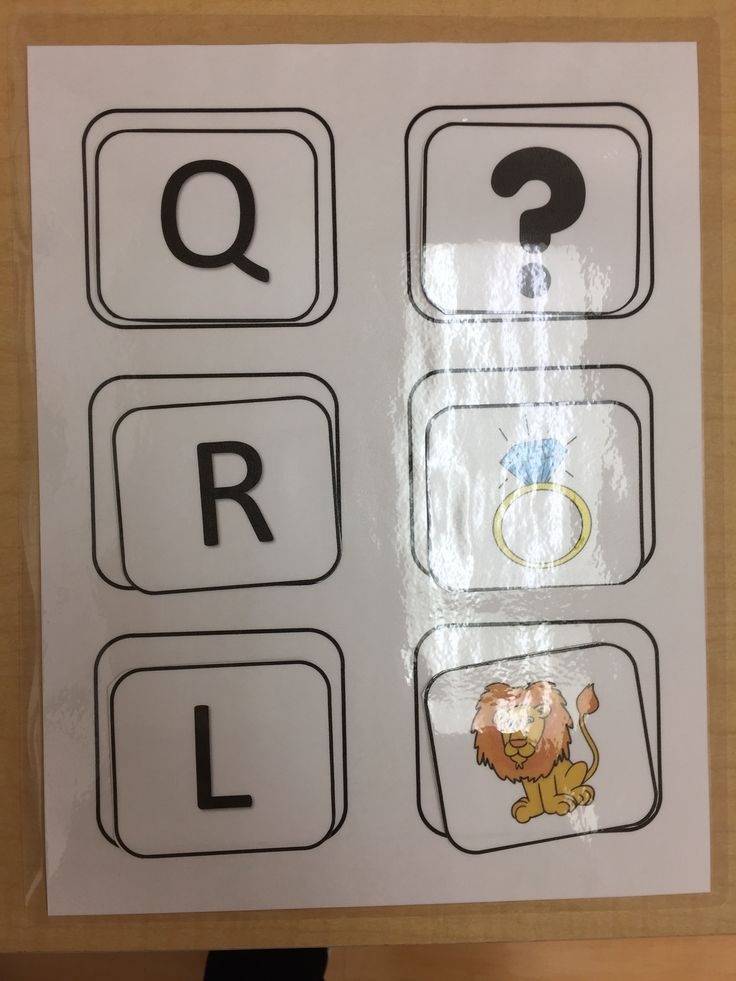 A is for apple, letter and picture matching game.