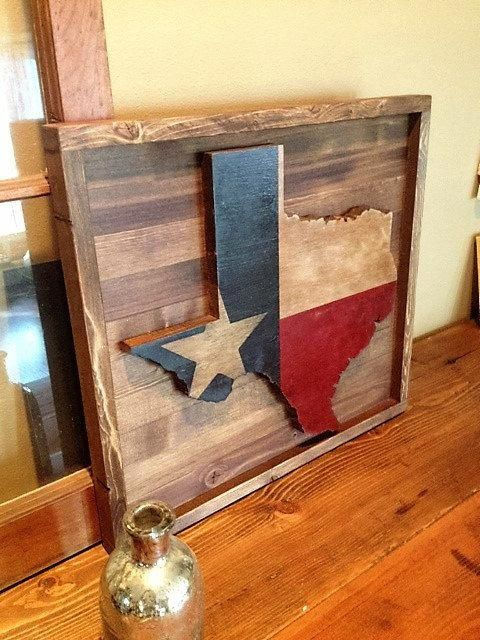 Rustic Texas Flag Woodprojectsshelves Wood Projects Shelves In