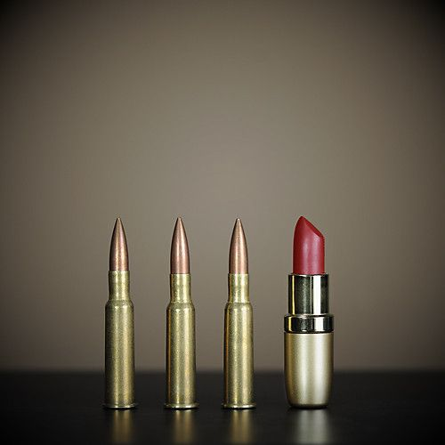 """""""Alessia why is there lipstick with the rest of your bullets?"""" """"Because, it's a killer colour."""""""