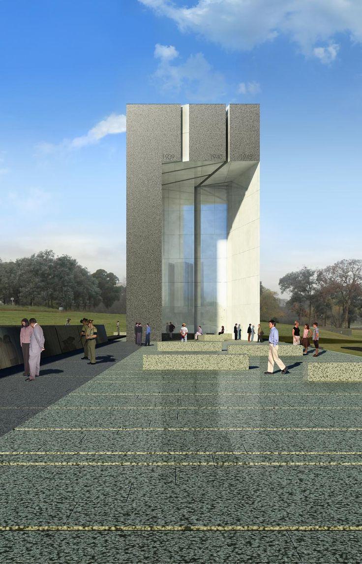 WWI & WWII Memorials Render | Richard Kirk Architect