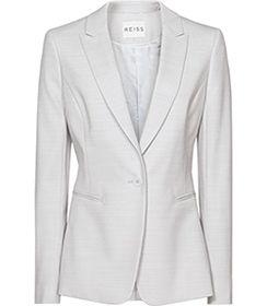 Womens Blue Salt Tailored Blazer - Reiss Valentina Blazer