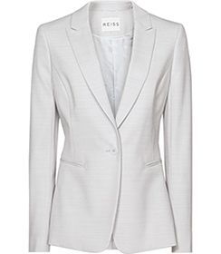 Womens Blue Salt Tailored Blazer - Reiss Valentina Blazer