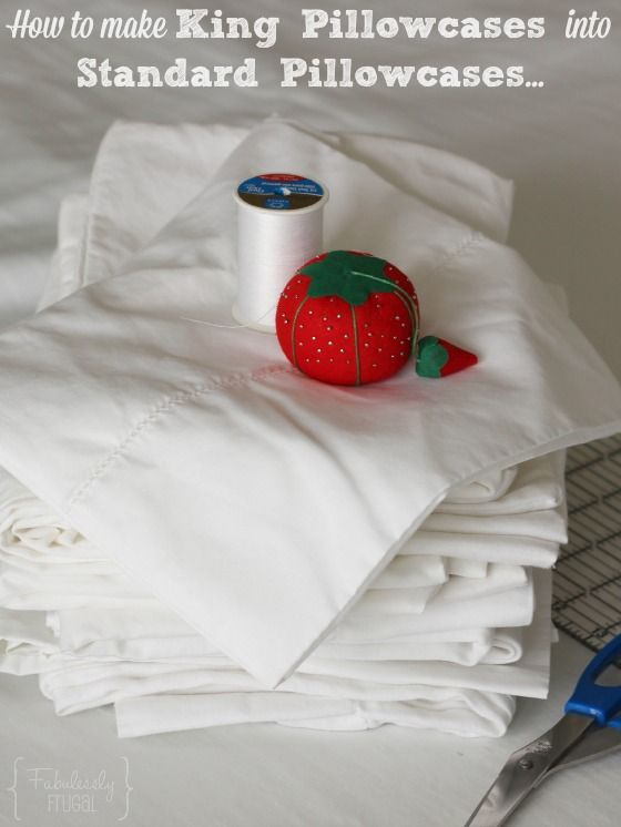 Make King Pillowcases into Standard - this will help solve the problem with the leftover material from your king size pillowcases!