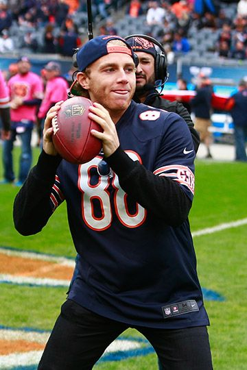 Patrick Kane has some fun at Soldier Field. #Blackhawks