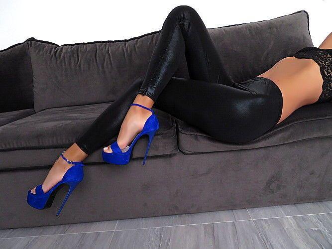Hose Leggings Leder Optik Made in Italy Neu Stretch Damen R98 Leather Look Pants