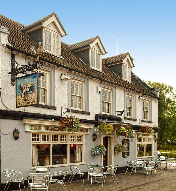 The Waggon and Horses Inn at Hartley Wintney, Hampshire by Anguskirk
