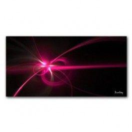 Tableau Vectoriel Rose Fluo Fond Noir 50 x 100 cm. Imprimé en haute définition sur toile canvas 100% coton. Chassis à clé en sapin. Fabrication Française. Livraison : 7 jours.