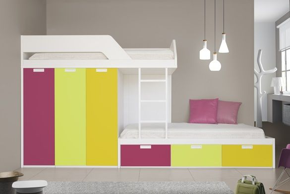 Funky Bunks are custom made in a huge range of colour combinations and various additional extras are available. Description from spacesavingbeds.co.uk. I searched for this on bing.com/images