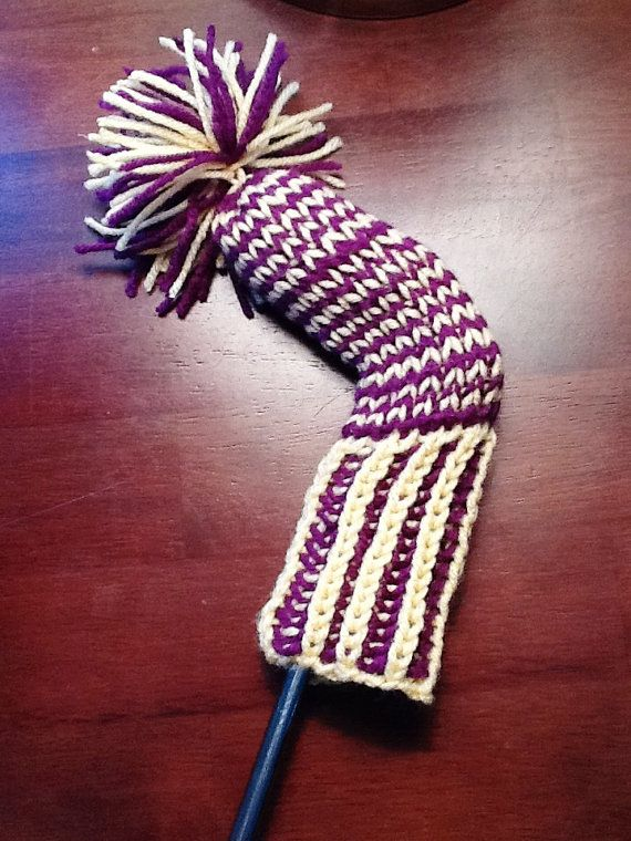 Golf Club Head Cover Hand Knit via Etsy Knitting Pinterest Golf, Golf c...
