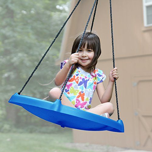 (Blue) Tire Swing, Super Spinner FUN n SAFE, Tree Swing, Child Swing, Best Swing on the Planet! Easy Swing Set or Tree Install Super Spinner http://smile.amazon.com/dp/B00KCCZZL0/ref=cm_sw_r_pi_dp_GEWbvb1CWF2B7