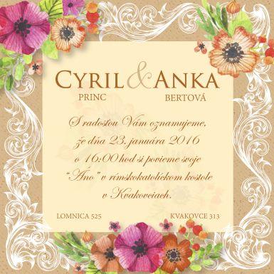 Pripravím pre Vás jedinečné svadobné oznámenie v rozmere A6, prípadne DL.<br><br>V cene 10€ je zahrnutá jedna verzia nárvhu oznámenia + jeho korekcie