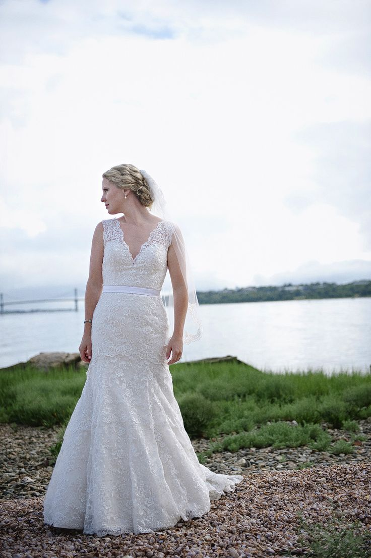 Allure Bridals gown | Mt. Hope Farm Wedding | See the wedding on SMP  - http://www.stylemepretty.com/rhode-island-weddings/bristol/2014/01/06/mt-hope-farm-wedding/ Janet Moscarello