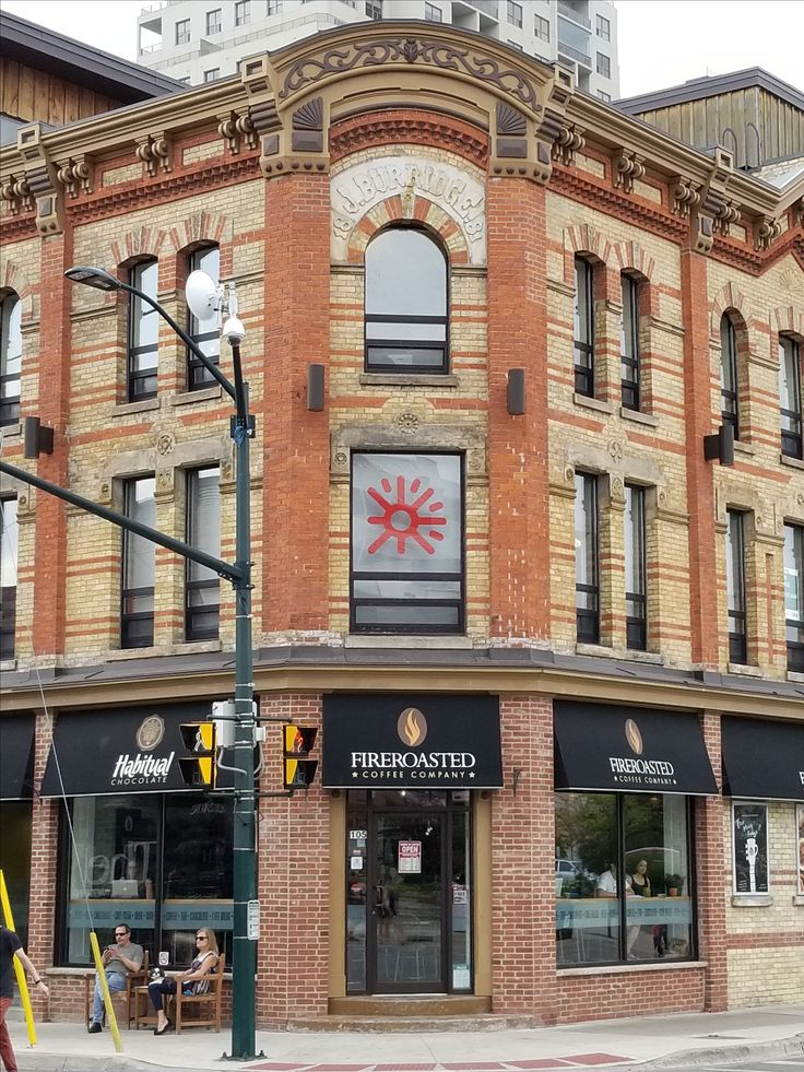 Fireroasted cafe, great coffee, old brick, old building, heritage building, architecture in London Ontario